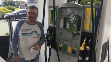 Rob Hewitt paid more than $1.50 per litre for unleaded petrol in Coffs Harbour and welcomed Brisbane's cheaper prices.