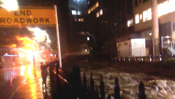 Hobart hit by flash flooding