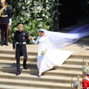 The Duke and Duchess of Sussex wed at St George's Chapel, Windsor Castle on May 19, 2018.