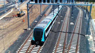 The government has vowed to 'expedite' construction of a metro line from Parramatta to Sydney's CBD.