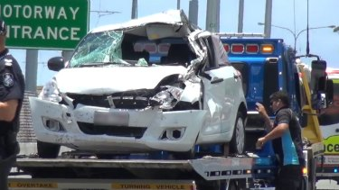 Two vehicles collided at Parkwood on the Gold Coast.