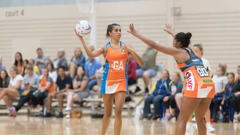 Beryl Friday in action against the GWS Giants back in February.