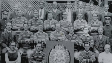 Heroes: Easts' premiership-winning team of 1913, including Dally Messenger and Jack 'Bluey' Watkins.