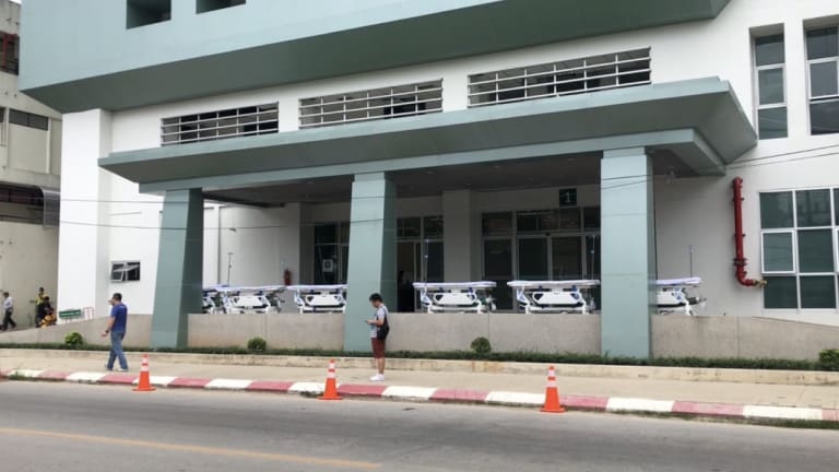 A whole floor of the  Chiang Rai Prachanukroh Hospital has been reserved for the soccer team.