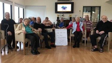 Residents of Waratah Lodge send their love to Victorians in lockdown.