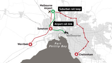 The Andrews government's planned Suburban Rail Loop.
