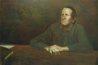 Ray Crooke's <i>George Johnston</i>, which won the Archibald Prize in 1969.