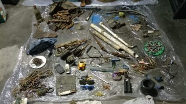 Some of the rubbish collected during their monthly clean ups.