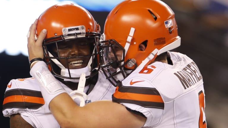 Long time between drinks: The new-look Browns only need to win one game to improve on last season.