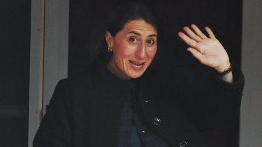 NSW Premier Gladys Berejiklian leaving her Sydney home on Tuesday.