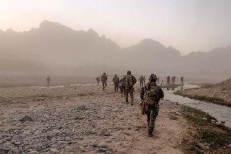 Australian soldiers near Darwan, Afghanistan, in 2011.