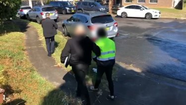 Arrests in Blacktown, NSW, as part of Operation Molto.