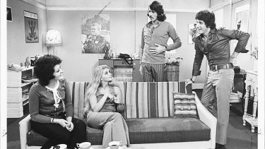 Some members of the cast of 'Number 96', the 1970s' soap that has inspired Zimmermann for its next collection.