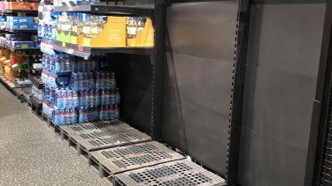 Doncaster East Aldi was sold out of bottled water by Friday afternoon.