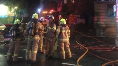 More than 50 firefighters took about 40 minutes to bring the fire at La Mama theatre under control a year ago