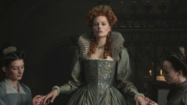 Margot Robbie stars as Queen Elizabeth I in Mary, Queen of Scots.