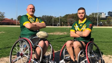 Father-son Craig and Cory Cannane have been named alongside each other in the Wheelaroos.