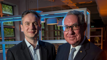 Rio Tinto chief executive JS Jacques and David Gonski will spearhead a new EdTech start-up accelerator.