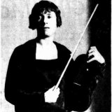Australian violin virtuoso Alma Moodie, shown in 1927, was both the composer's lover and his inspiration.