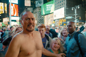 Michael Keaton as Riggan in Alejandro Inarritu's not-quite-one-shot Birdman.