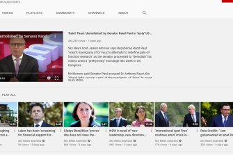 YouTube suspended Sky News Australia from posting new videos to its YouTube account for seven days.