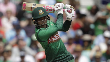 Bangladesh's Mushfiqur Rahim in action against South Africa at the Oval on Sunday.