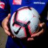Victory sign Albanian midfielder Basha