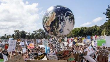 September's Strike for the Climate, Domain, Sydney.