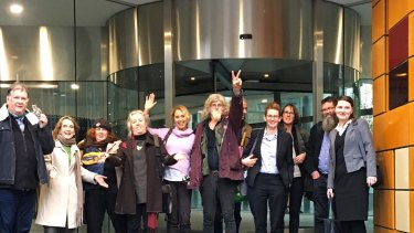 Friends of Leadbeater's Possum committee members at the Federal Court hearing.