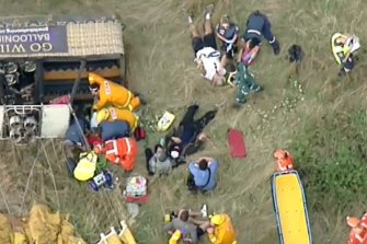 Seven people were hospitalised after the hot air balloon was forced to make an emergency landing north of Melbourne in February, 2018.