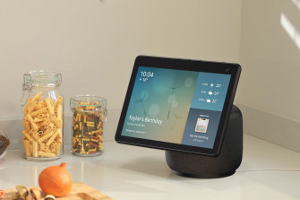 The new Echo Show 10 can track you around the room so the display is always visible.