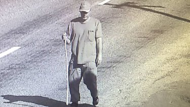 Police are looking for this man after a home owned by Mike Cammell was broken into and other items were stolen from a nearby property.