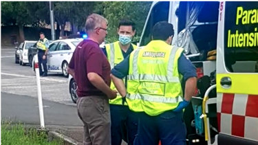 Anthony Albanese was assessed by paramedics on scene and taken to hospital.