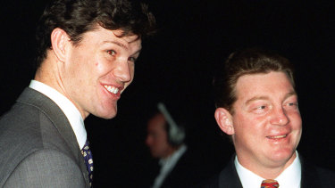 James Packer and Phil Gould in 1996.