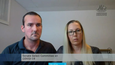 David and Kate Jeffries told a Senate hearing on Thursday they have spent $50,000 trying to get home.