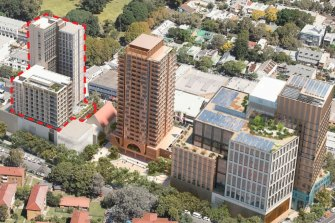 The NSW government has released designs for the over-station development at Waterloo, which includes work spaces, private apartments, social and student housing.