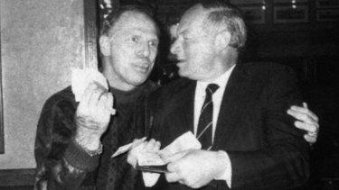 Arthur 'Neddy' Smith with Roger Rogerson.