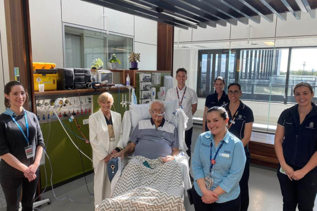 Richard, 81, spent 77 days in intensive care at a Queensland Hospital with COVID-19.