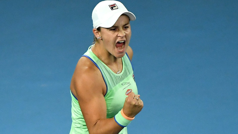 Ash Barty survives a scare to power into Open quarters