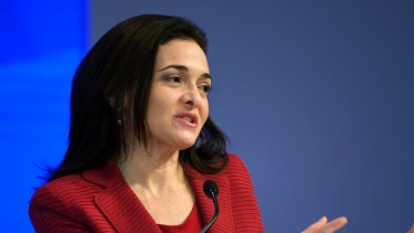 Facebook chief operating officer and billionaire Sheryl Sandberg.