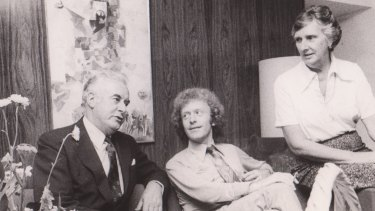 Staffer Richard Whitington with Gough and Margaret Whitlam in Tel Aviv during their six-week overseas trip in 1976.