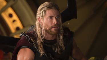 Chris Hemsworth as Thor in the Australian-subsidised film Thor: Ragnarok.