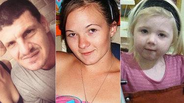 Daniel James Holdom, Karlie Pearce-Stevenson and her daughter Khandalyce.