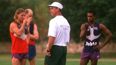 Gerard Neesham, the club's first coach, at training in 1995.