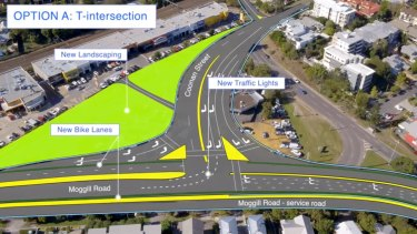 One option will replace the roundabout with a T-intersection.