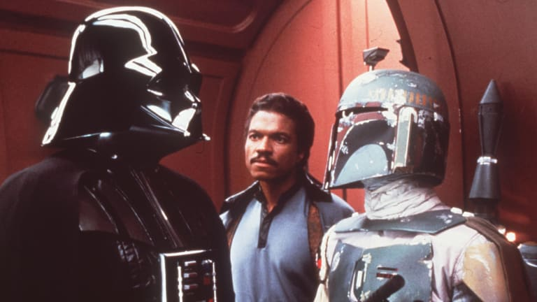 Darth Vader, Lando Calrissian and Boba Fett in The Empire Strikes Back.