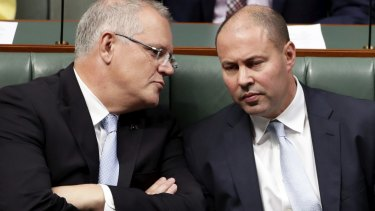 Their economic management under the microscope ... Prime Minister Scott Morrison and Treasurer Josh Frydenberg.