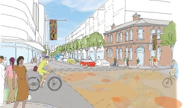 The proposal would raise building heights at the Redfern end of Botany Road.