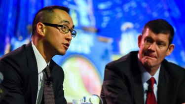 Melco boss Lawrence Ho (left) and James Packer are expected to be called to the inquiry.