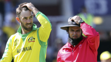 Glenn Maxwell during last year's World Cup.